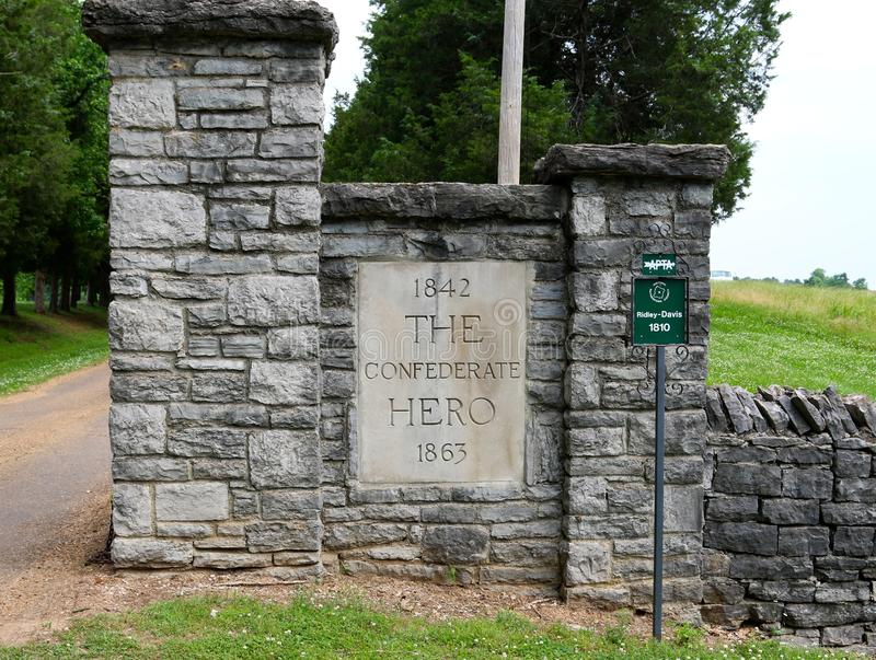 Front Entrance Gate At The-Huis van Sam Davis royalty-vrije stock afbeelding