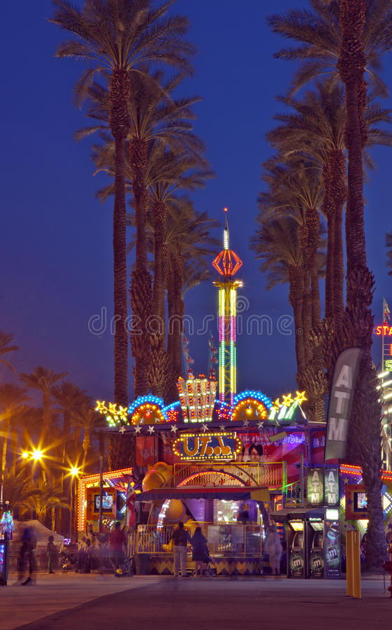 Front Entrance to the Date Festival in Indio. Front entrance to the Riverside County Fair/Date Festival in Indio, California royalty free stock photos