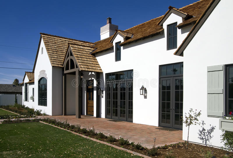 Download Front Exterior Of New Modern Desert Home Stock Image - Image: 18033579