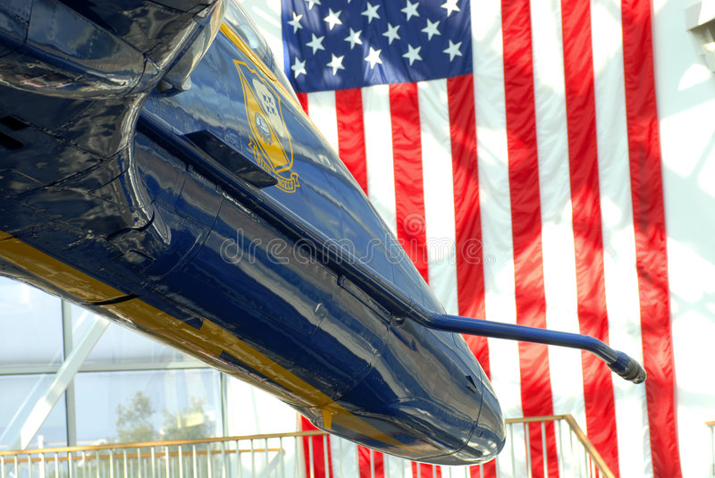 Download The Front Of A F/A-18 Hornet Blue Angels Jet Stock Image - Image of aeronautics, patriotic: 3814471