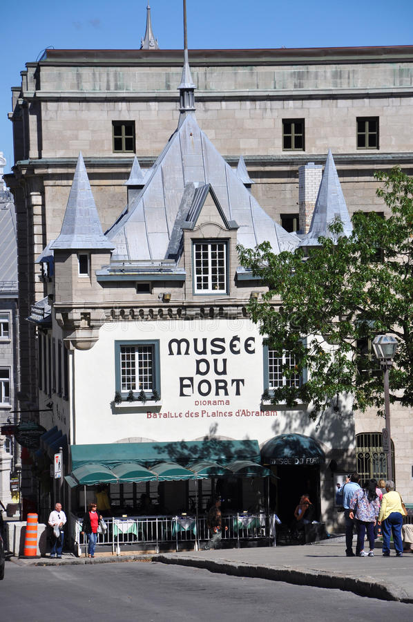 Museum of Fort in Old Quebec City, Canada. Front facade of Museum of Fort (Musee du Fort) in Old Quebec City, Quebec, Canada royalty free stock photography