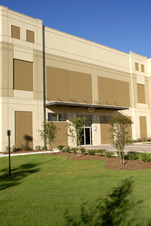 Download Front Facade Of New Commercial Building Stock Photo - Image: 3635604