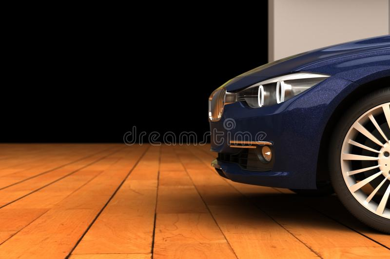 Front fender of a luxury car stock image