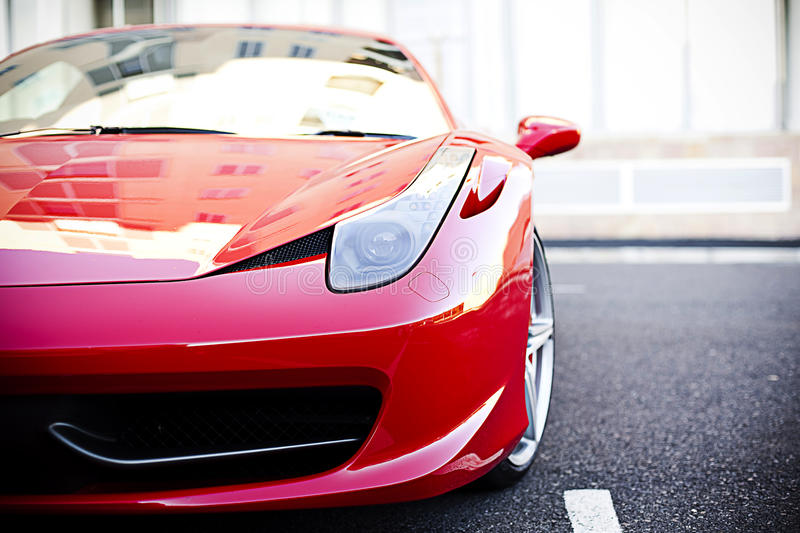 Front of Ferrari royalty free stock photo