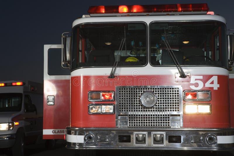 Front Of Fire Brigade imagem de stock royalty free