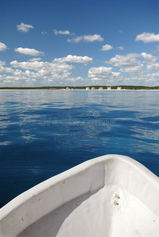 Download Front Of Fishing Boat On Water Stock Photo - Image: 4053162