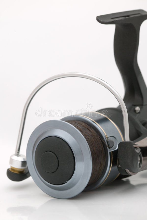 Front of a fishing reel royalty free stock images