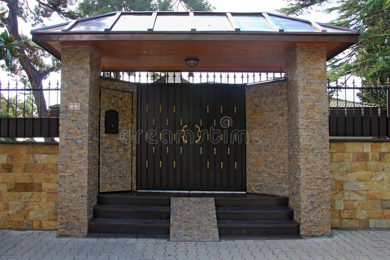 Front garden gate royalty free stock photo