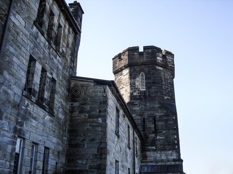Front Gate Eastern State Penitentiary Philadelphia arrest royaltyfri foto