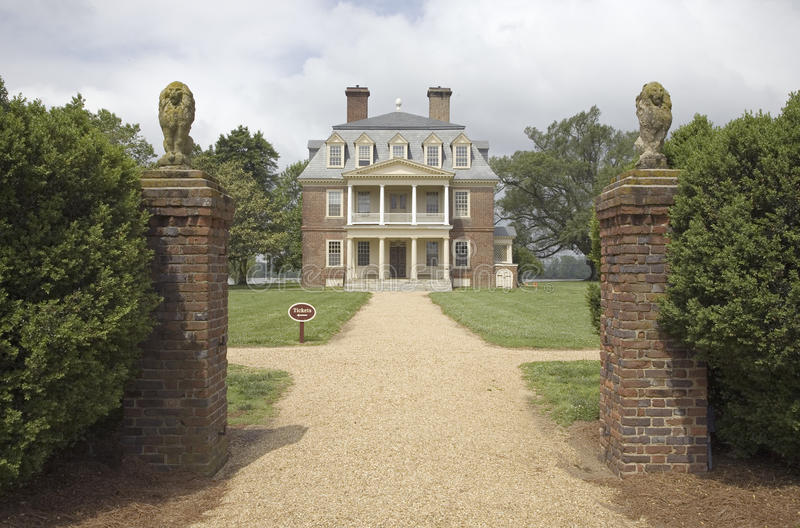 Download Front Gates Of Shirley Plantation Stock Photo - Image: 27072260