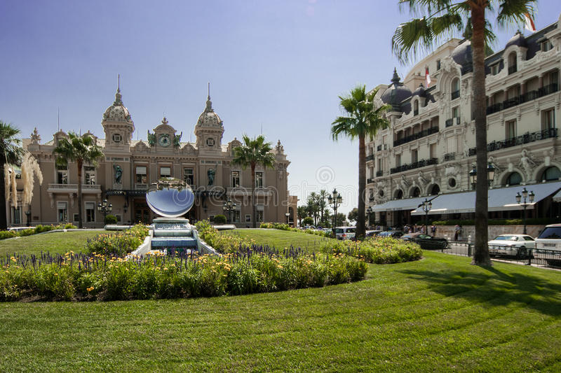 Casino and Hotel de Paris in Monte Carlo royalty free stock images
