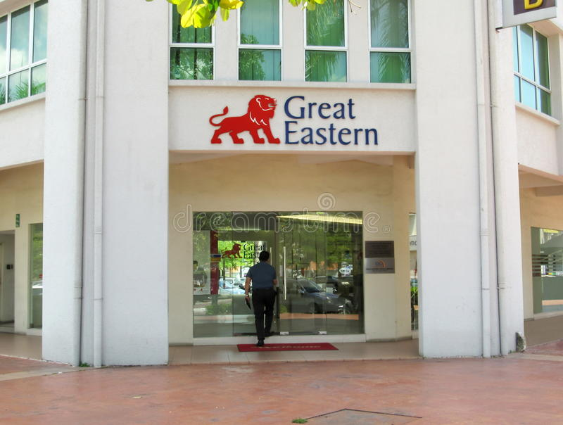Front Of Great Eastern Life Assurance Office, Ipoh Branch royalty free stock photos