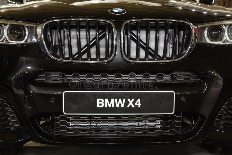 Front grill on BMW X4 stock photography