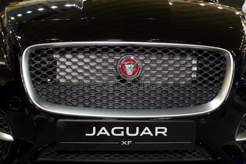 Front grill on JAGUAR XF stock photography