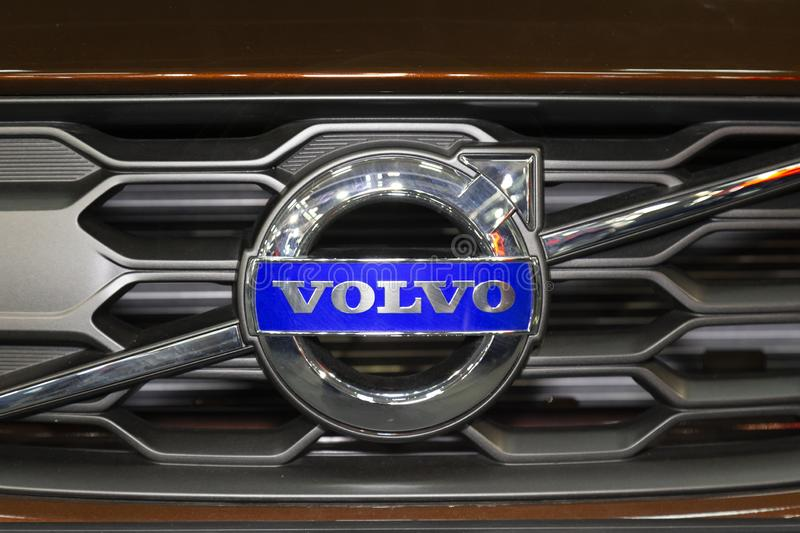 Front grill on Volvo vehicle stock photo