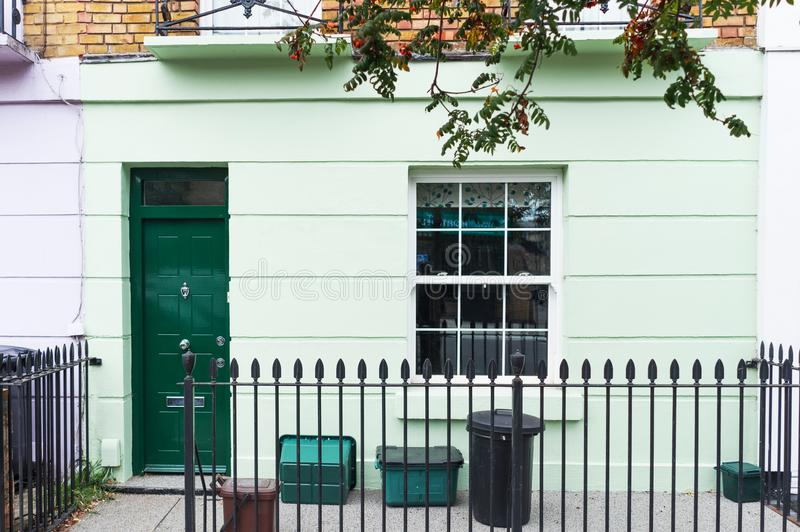 Front ground floor british house in Camden town, London, England royalty free stock photography