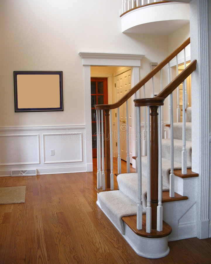 Front hall stairs stock photos
