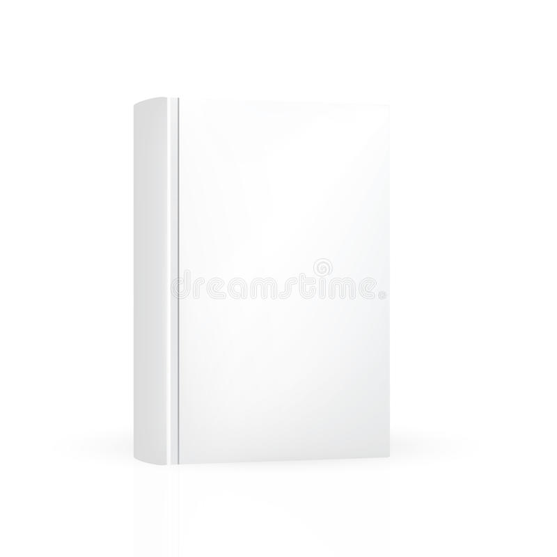 Front hard cover thick book no design vector illustration
