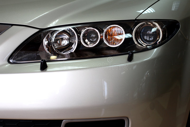 Front headlights royalty free stock image