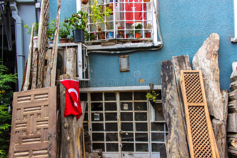 Front house in Istanbul royalty free stock photos
