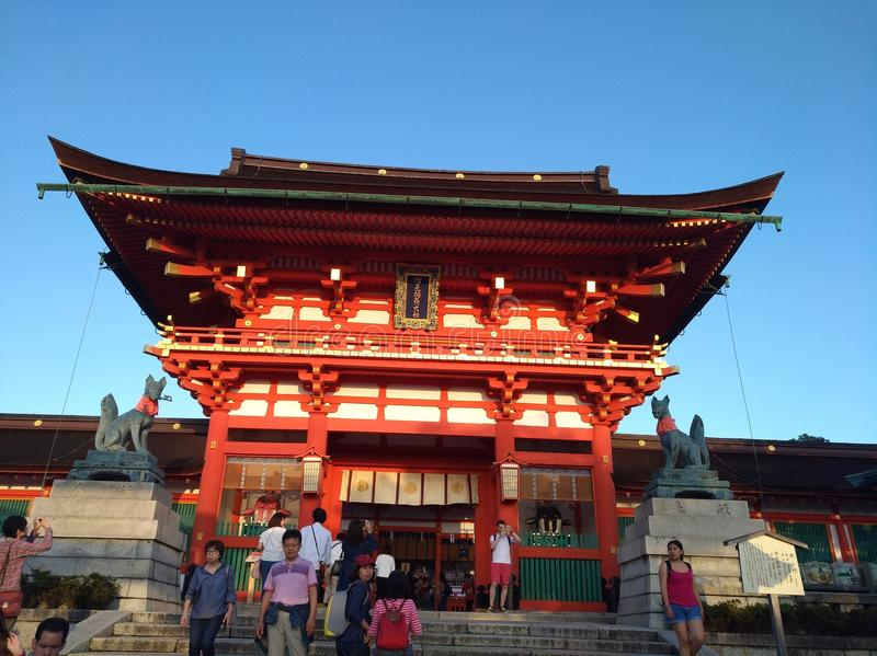 Front of Kyoto Shrine stock images
