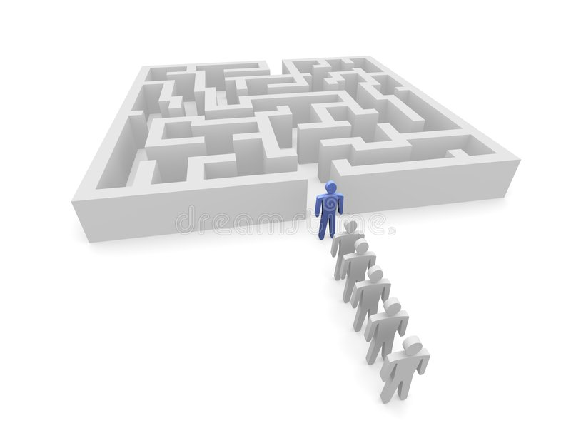front labyrinth persons διανυσματική απεικόνιση