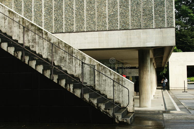 Front of the Le Corbusier-designed National Museum of Western Art in Tokyo stock photography