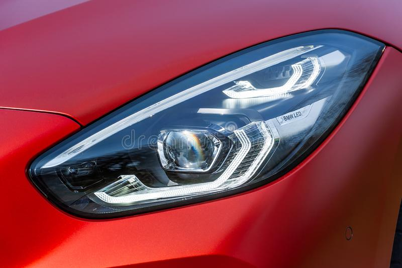 Front light of BMW Z4 royalty free stock photos