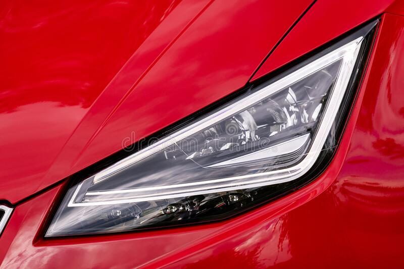 Front light of a car royalty free stock image