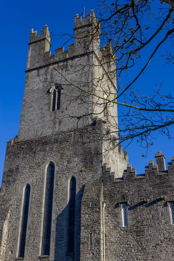 Limerick stone church. Front of Limerick stone church, Limerick, Ireland royalty free stock photos
