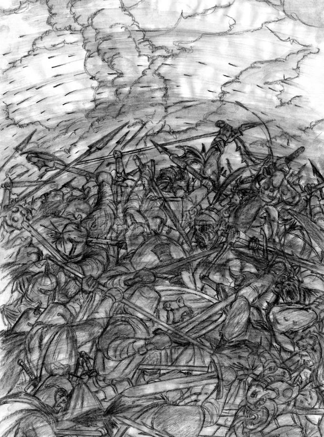 Download Front Line stock illustration. Illustration of good, cloudy - 13954161