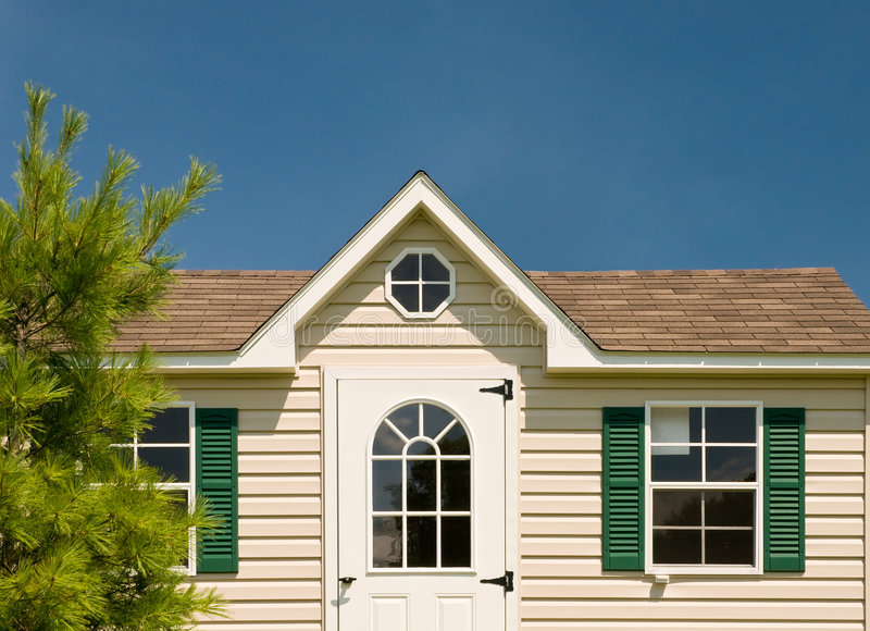 Front of little house royalty free stock image