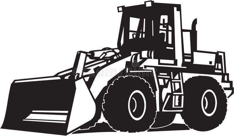 Front Loader Heavy Equipment Vector-Illustratie vector illustratie