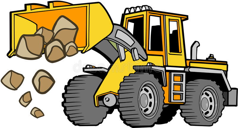 Tractor Front Grill Clip Art : Front loader vector stock illustration of huge