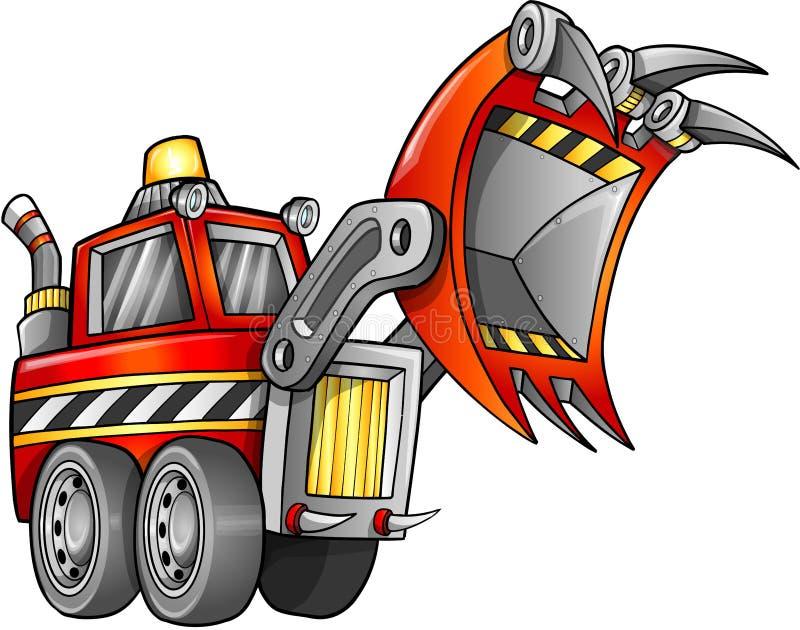Front Loader Vehicle apocalíptico stock de ilustración