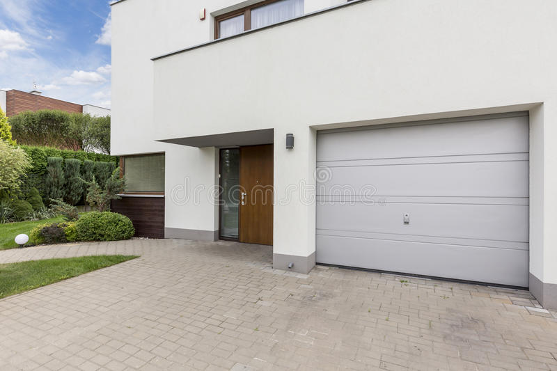Front of modern house stock images