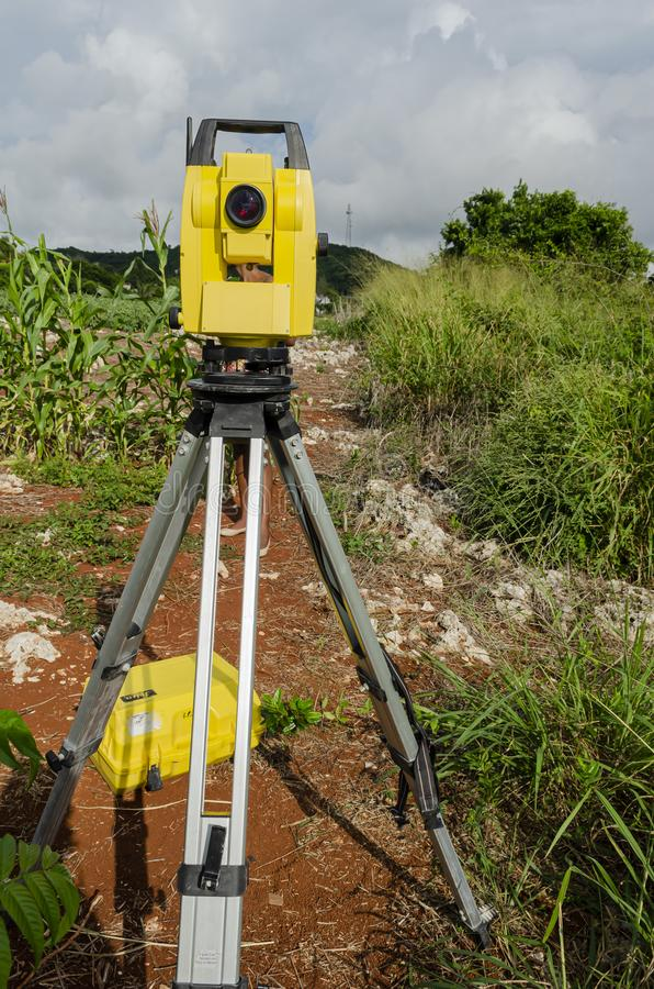 Free Front Of Surveyor`s Theodolite Stock Photos - 168039103
