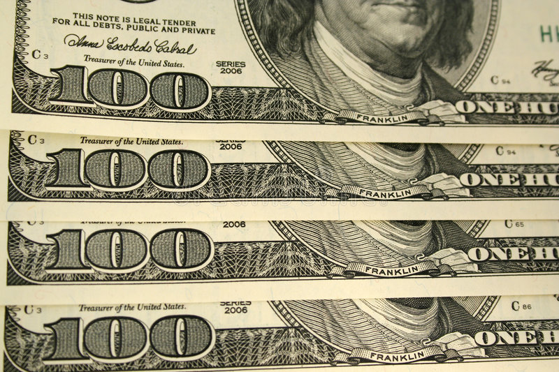 Download Front Of A One Hundred Dollar Bill Background Stock Image - Image of wealth, savings: 3908797