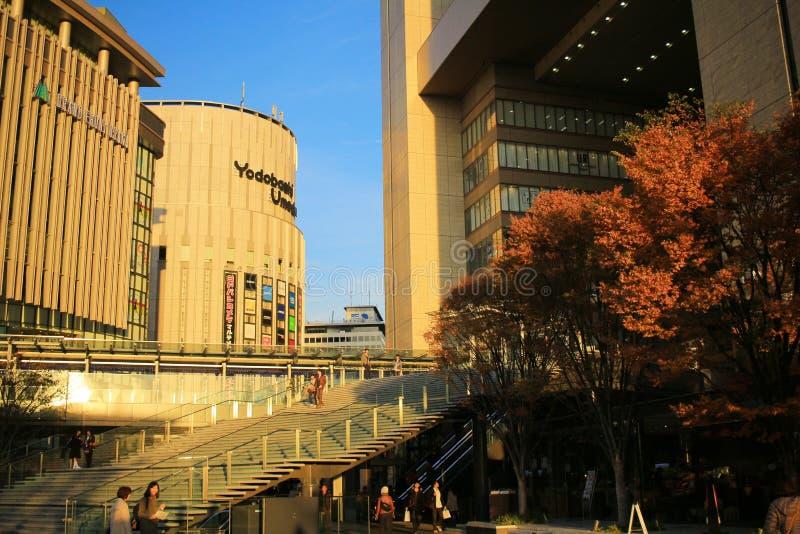 Front Osaka grande é um complexo situado em Umeda, Osaka imagens de stock royalty free