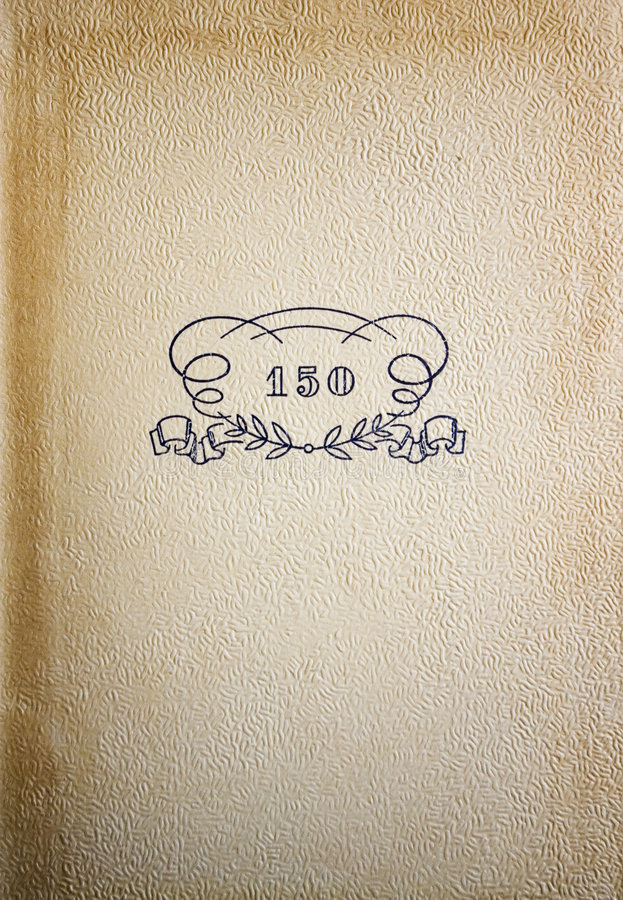 Front page of vintage book stock image