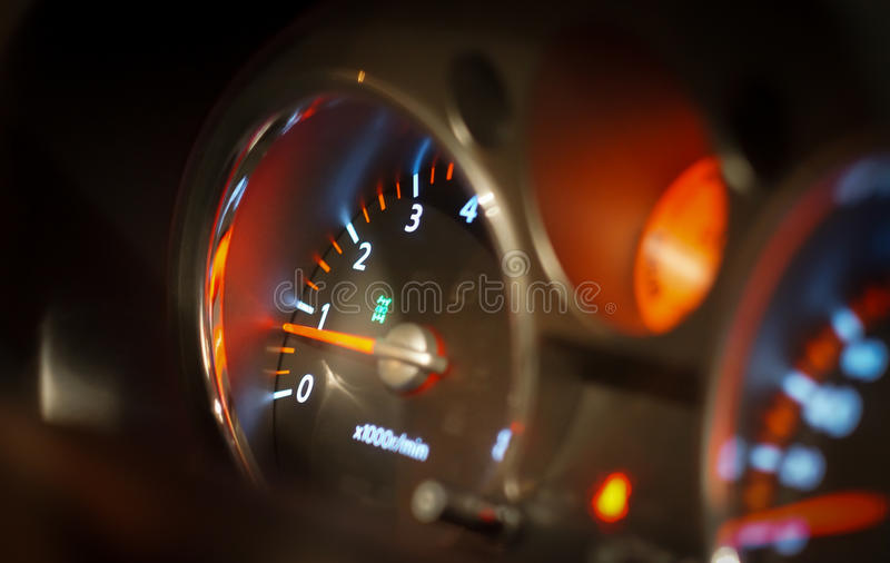 Front panel of the car dashboard royalty free stock images