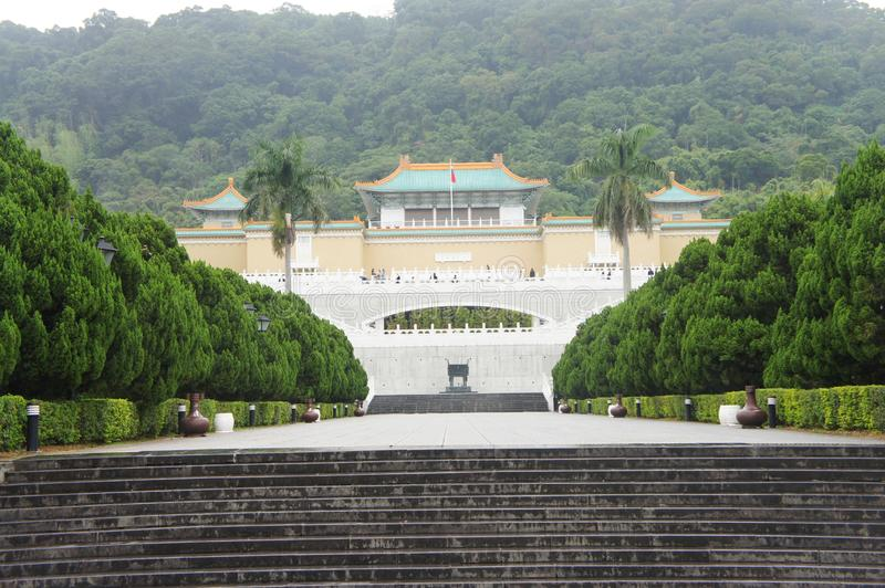 The front part of Palace Museum stock image