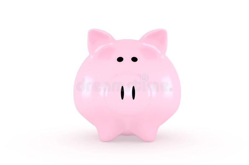 Front Of A Piggybank Stock Image