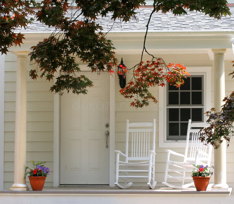 Download Front Porch stock image. Image of porch, rocker, chair - 811433