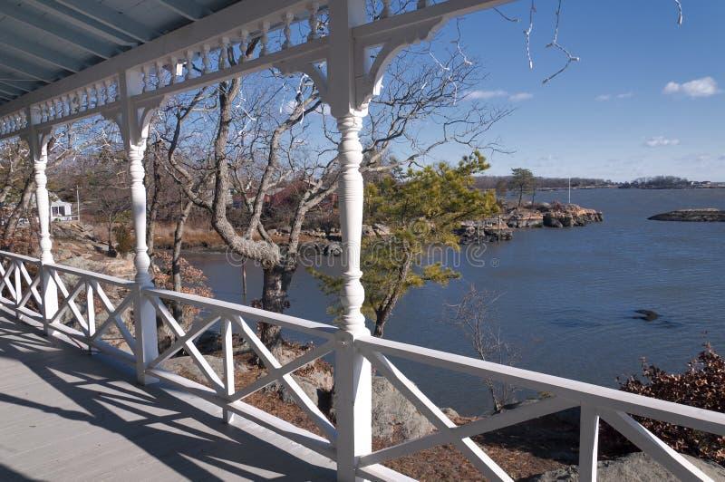 Front Porch in Connecticut fotografia stock libera da diritti