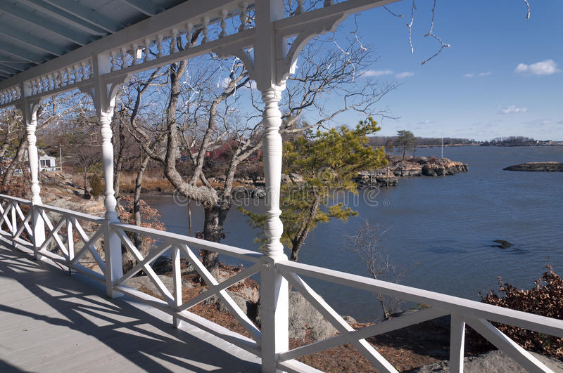 Download Front Porch in Connecticut stock image. Image of ocean - 64166497