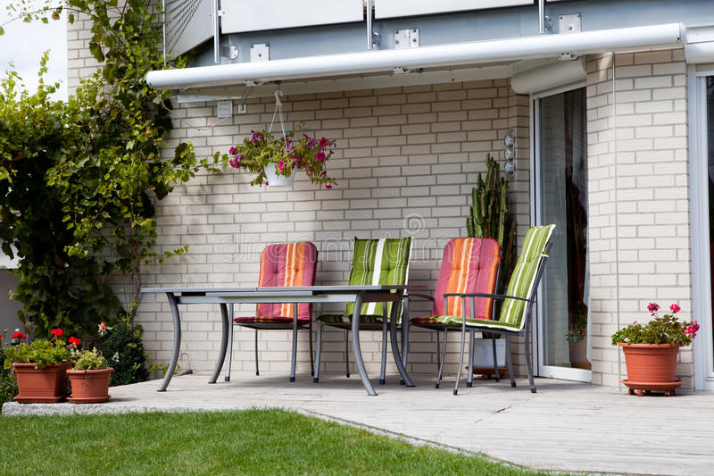 Download Front Porch Of A House With Sitting Area Stock Photo - Image: 21660888