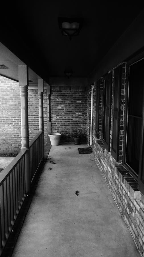 Front Porch oscuro imagen de archivo libre de regalías