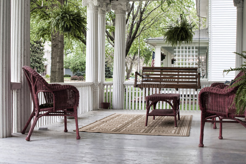Front Porch in Spring royalty free stock image