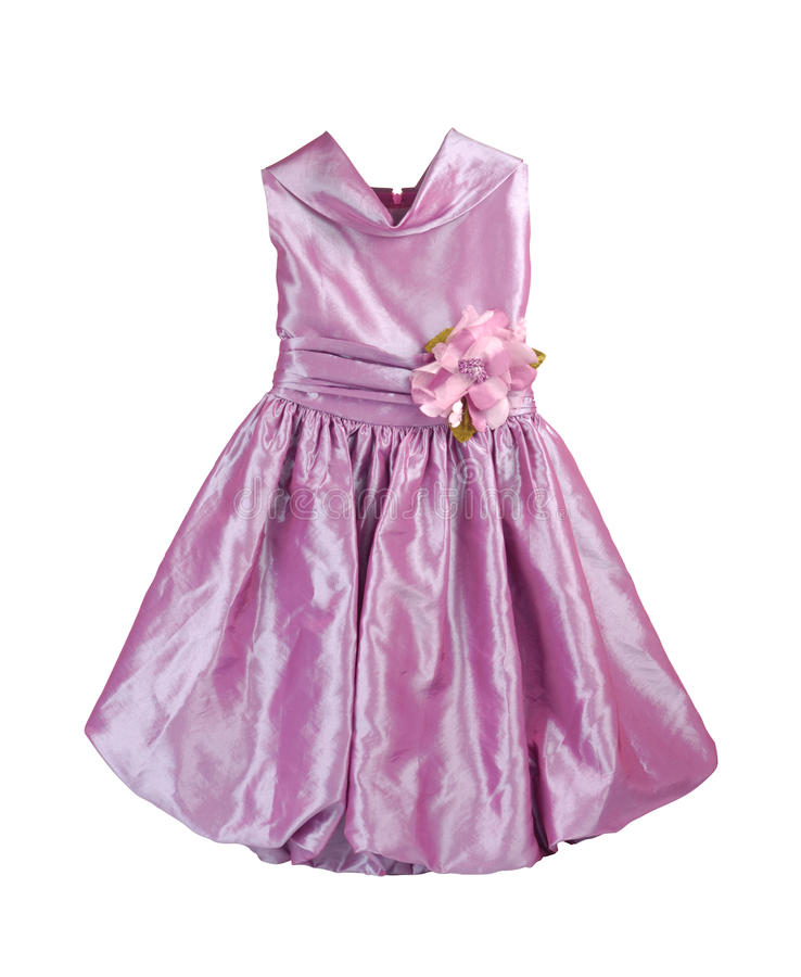 Front Of Purple Dress stock image